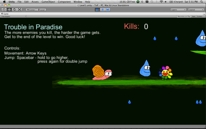 Trouble in Paradise - Start of Level