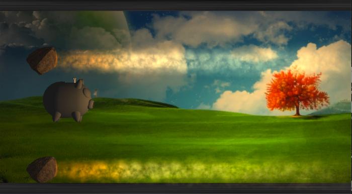 Gameplay shot of MrPig